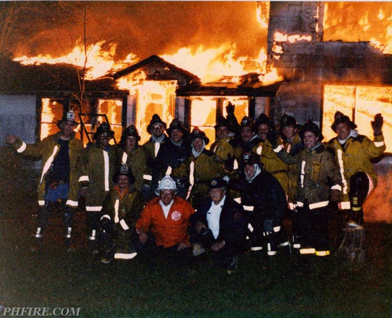 1984 burn down at old Rob Roy Country Club. Ron is in the first row center with red coat