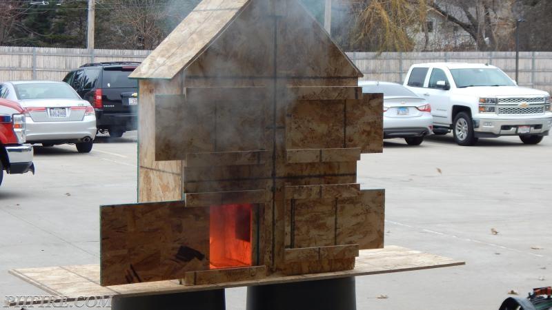 "Fire begins to build in ""the room"" of origin"
