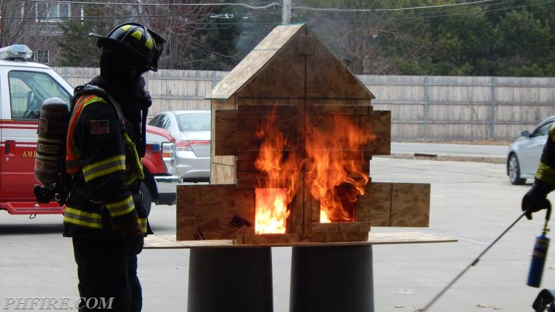 """Flammable vapors have allowed the fire to """"jump"""" to the adjoining room."""