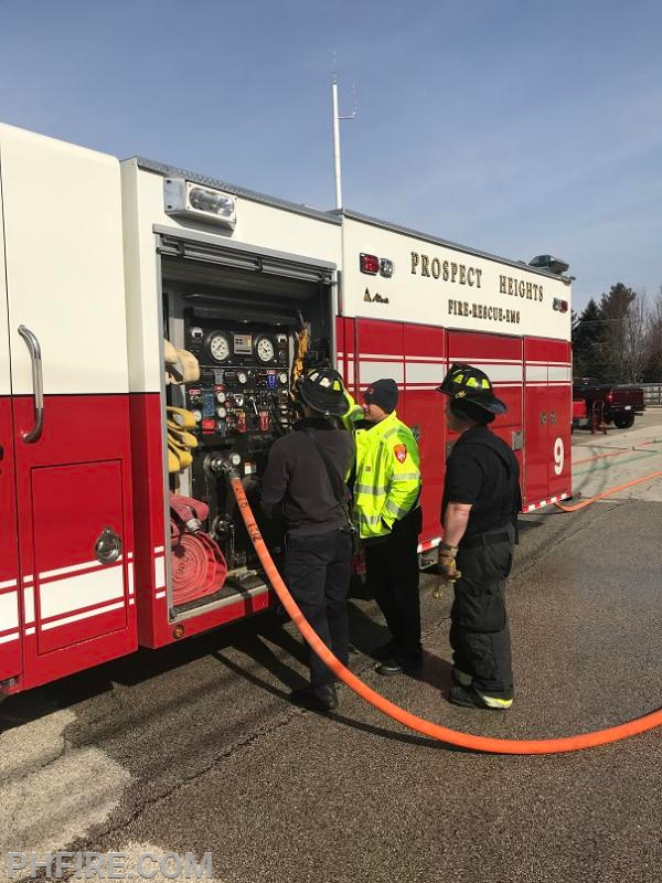 "This ""test"" allows for time to review fire truck pump operations with new members"