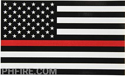The thin red line flag represents the sacrifice of those firefighters who died in the line of duty