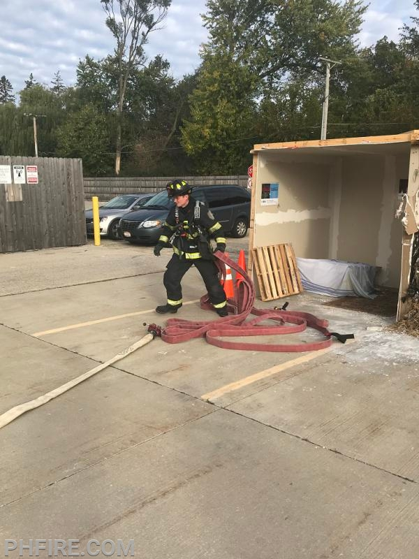 FF Carnes practiced our basic lead out with the guidance of his shift members.