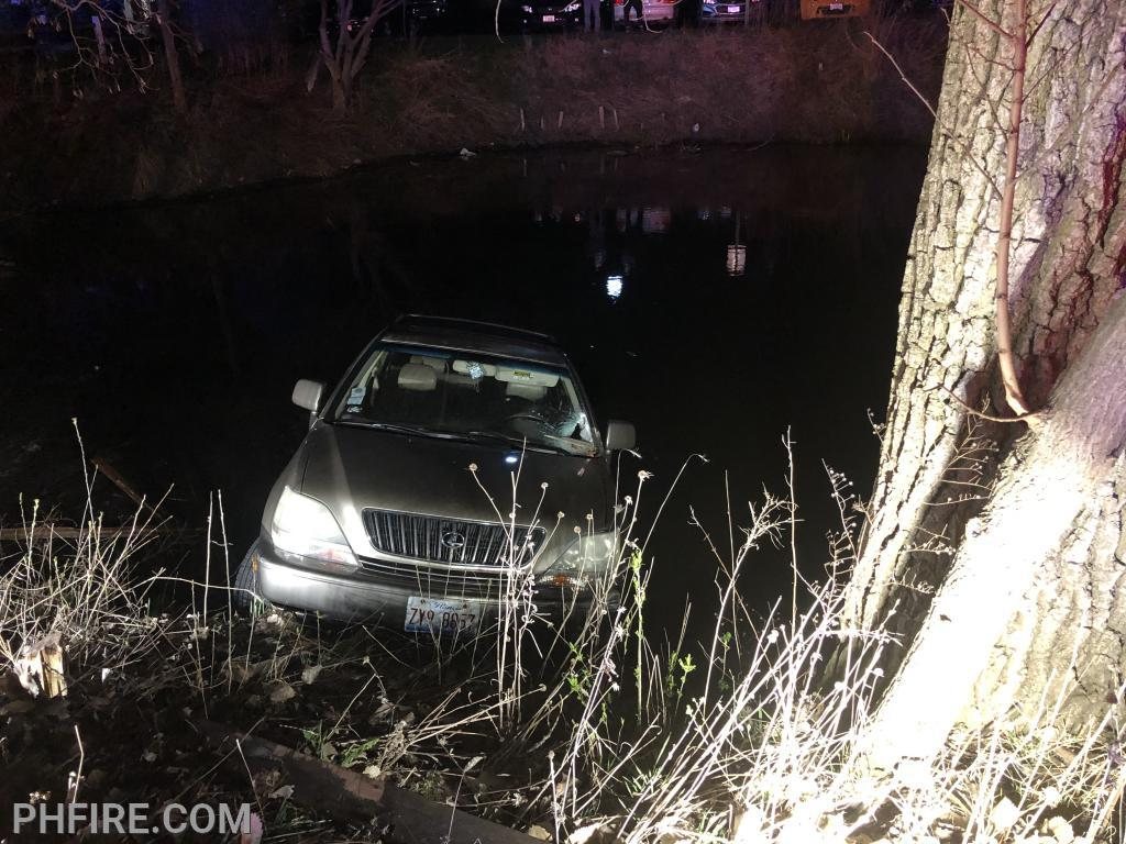 April 13 firefighter/paramedics responded to a car into a pond along Old Willow Road
