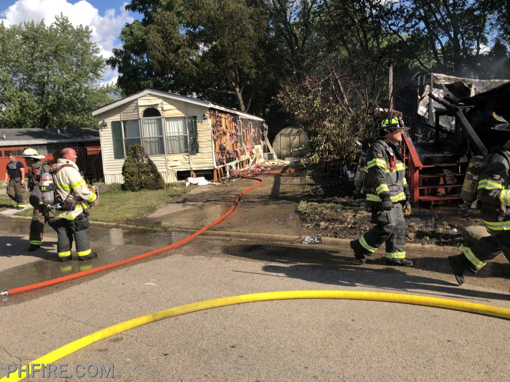 The east side home (exposure, in firefighter terms) sustain damage.