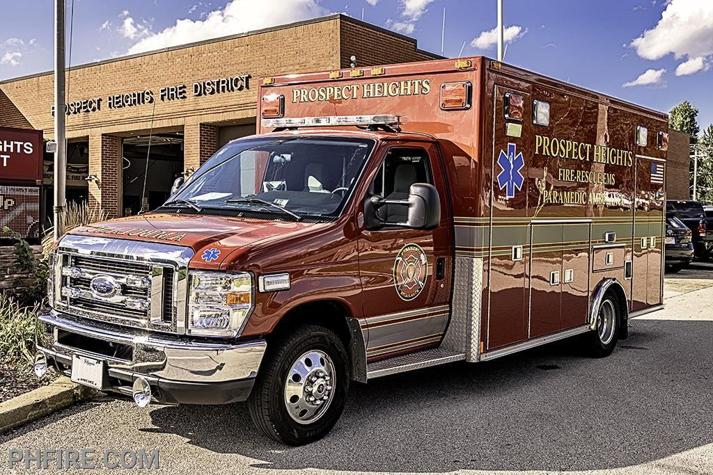 One of three PHFD paramedic ambulances, each fully stocked valued at $350,000