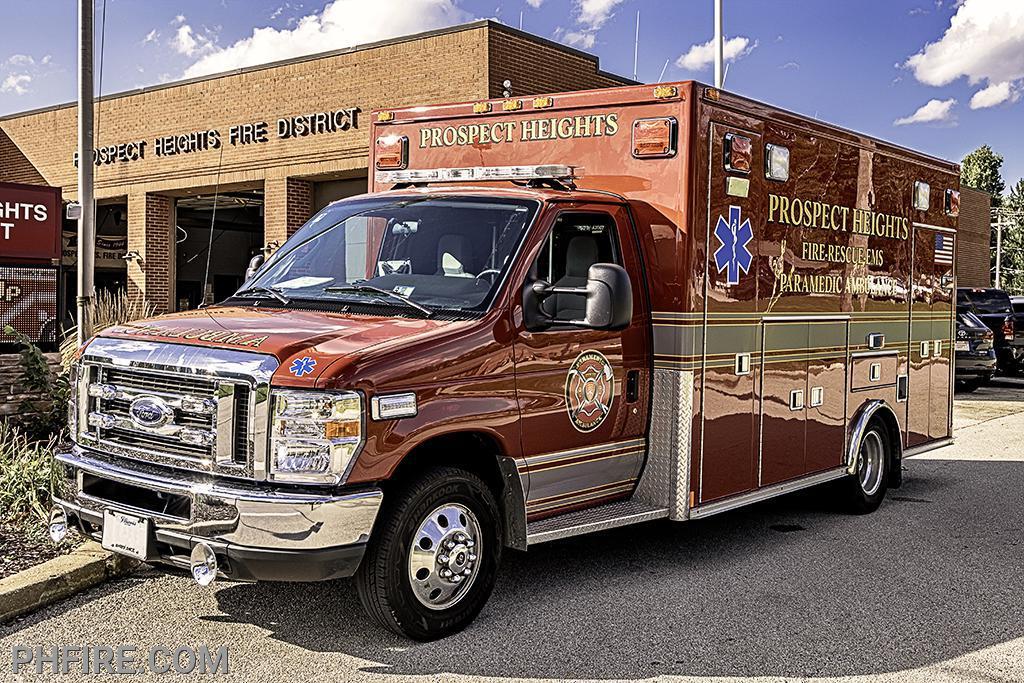 One of three PHFD paramedic ambulances, each fully stocked valued at $350,000